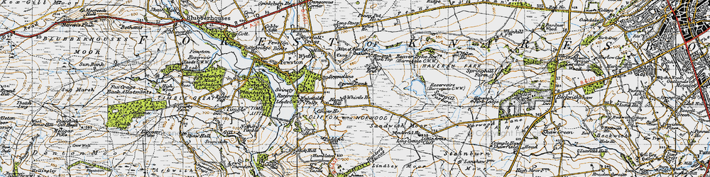 Old map of Whistle Ho in 1947