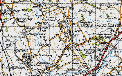 Old map of Brown Edge in 1946