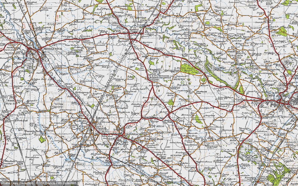 Old Map of Brownedge, 1947 in 1947