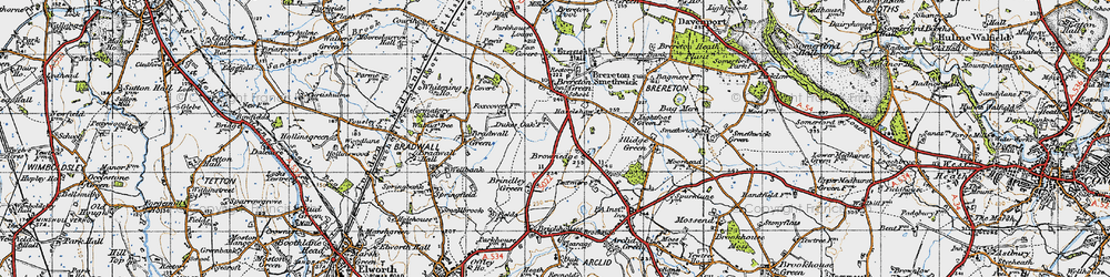 Old map of Brownedge in 1947