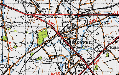 Old map of Brownhills in 1946