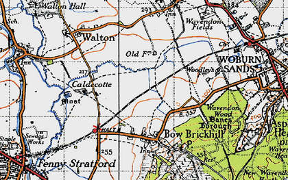 Old map of Browns Wood in 1946