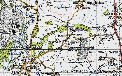Old map of Crook of Dee in 1947