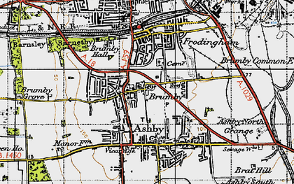 Old map of Brumby in 1947