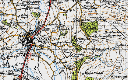 Old map of Alder Carr Wood in 1947