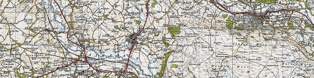 Old map of White Crag Plantn in 1947