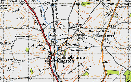 Old map of Brunton in 1940