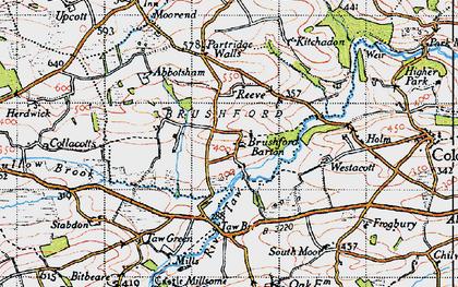 Old map of Westacott in 1946