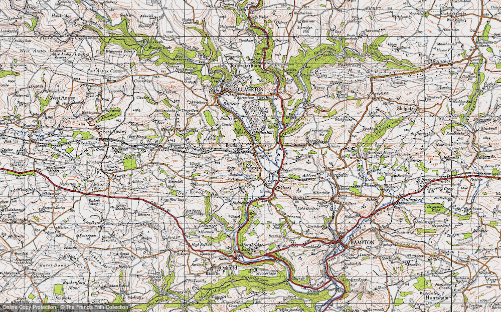 Old Map of Historic Map covering Allers Wood in 1946