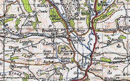Old map of Allers Wood in 1946