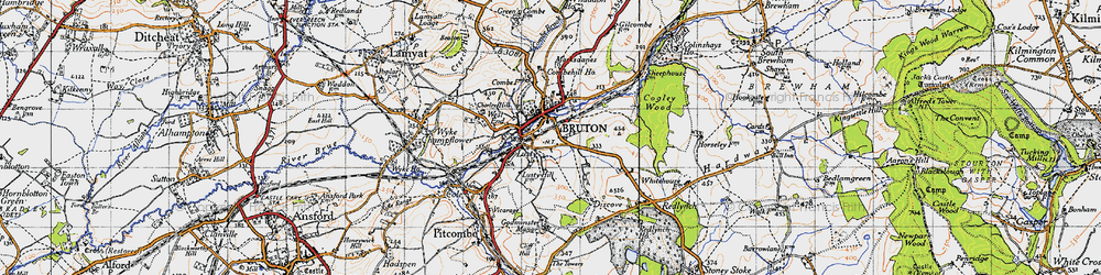 Old map of Whaddon Ho in 1946