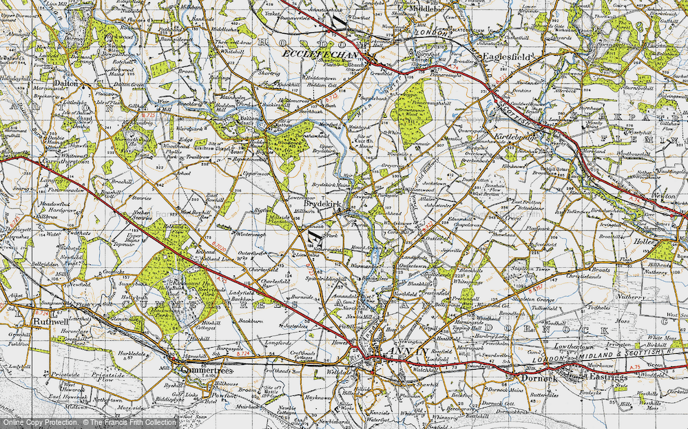 Old Map of Historic Map covering Woodcock Air in 1947