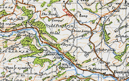 Old map of Bryn in 1947