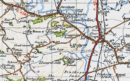 Old map of Bryn Mawr in 1947