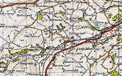 Old map of Allt-y-Celyn in 1947