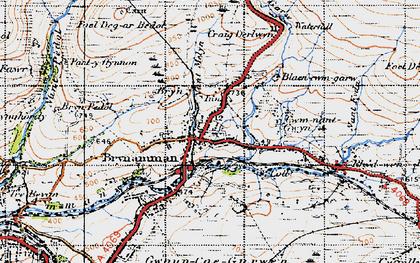 Old map of Brynamman in 1947
