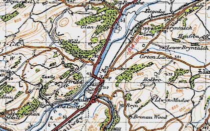Old map of Brynderwen in 1947
