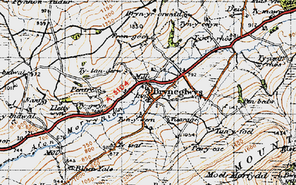 Old map of Bryneglwys in 1947