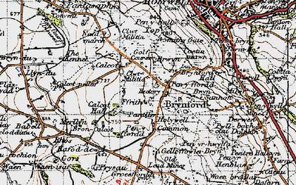 Old map of Brynford in 1947