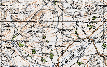 Old map of Bryngwyn in 1947