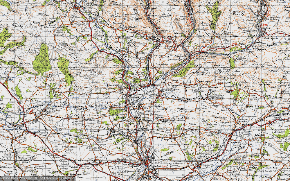 Old Map of Brynmenyn, 1947 in 1947