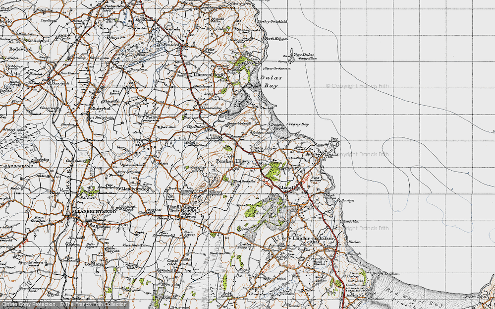 Old Map of Brynrefail, 1947 in 1947