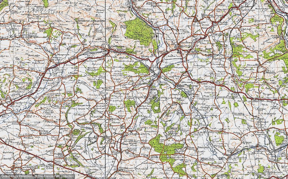 Old Map of Brynsadler, 1947 in 1947