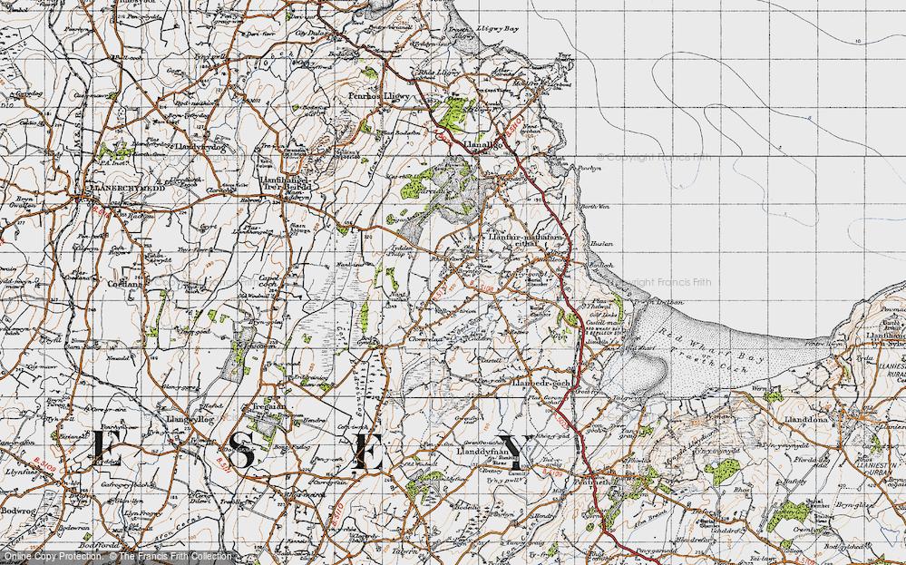Old Map of Brynteg, 1947 in 1947