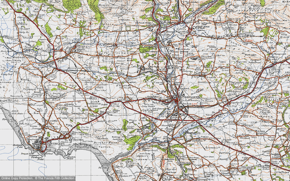 Old Map of Bryntirion, 1947 in 1947