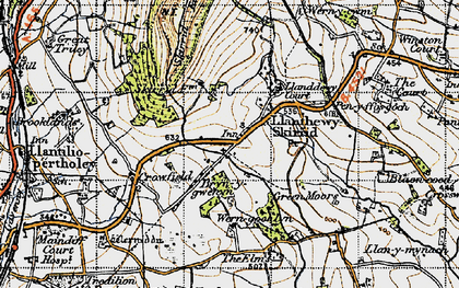 Old map of Arwallt, The in 1947