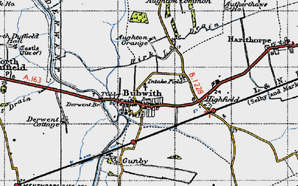 Old map of Aughton Grange in 1947