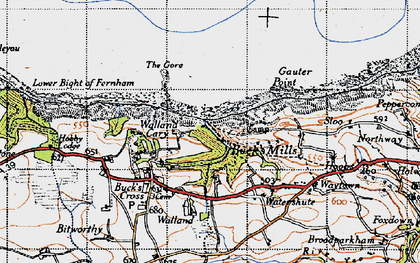 Old map of Buck's Mills in 1946
