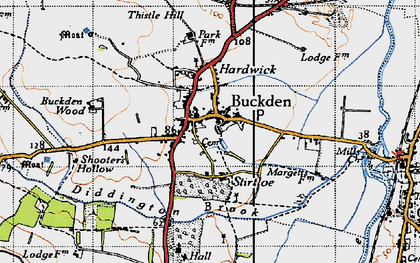 Old map of Buckden in 1946