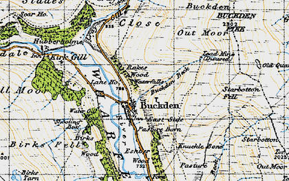 Old map of Buckden in 1947