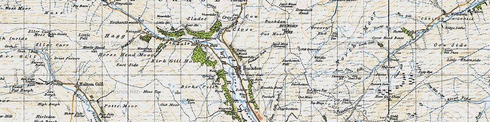 Old map of Windle Side in 1947
