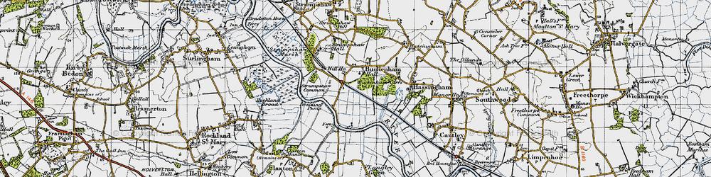 Old map of Buckenham in 1946