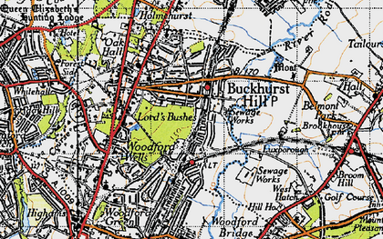 Old map of Buckhurst Hill in 1946