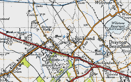 Old map of Buckland in 1946