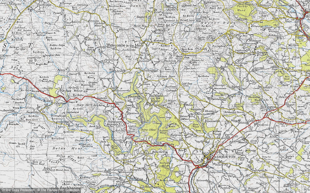 Old Map of Historic Map covering Ausewell Wood in 1946