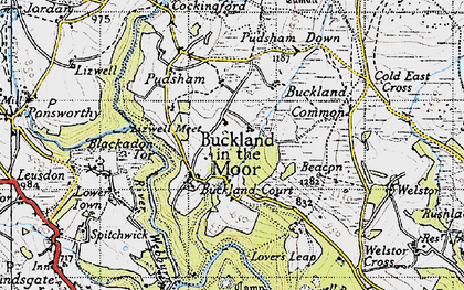 Old map of Ausewell Wood in 1946