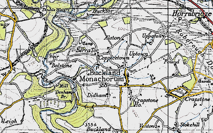 Old map of Balstone in 1946