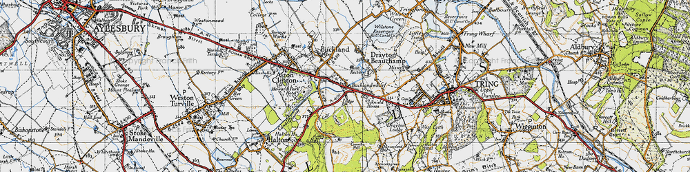 Old map of Bucklandwharf in 1946