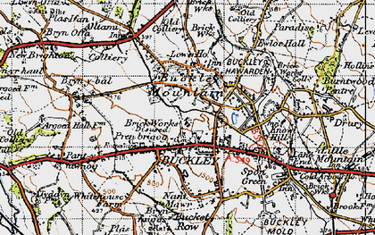 Old map of Buckley in 1947