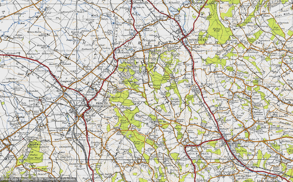 Old Map of Buckmoorend, 1947 in 1947