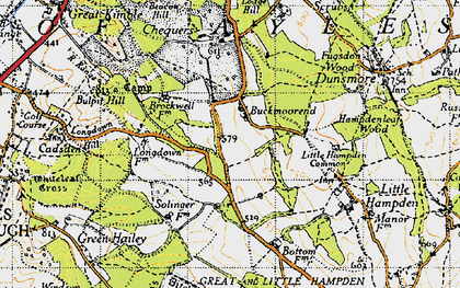 Old map of Buckmoorend in 1947