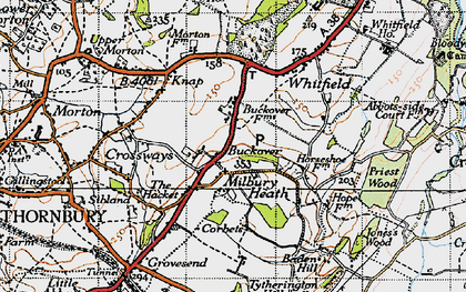 Old map of Buckover in 1946