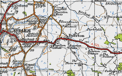 Old map of Woodend in 1947
