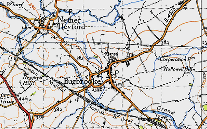 Old map of Bugbrooke in 1946
