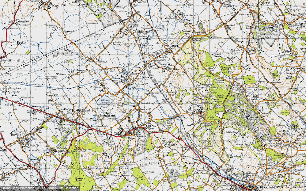 Old Map of Bulbourne, 1946 in 1946