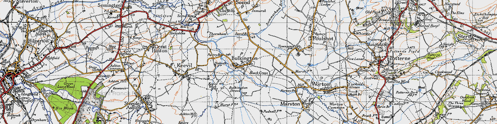 Old map of White Horse Trail in 1940